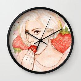 Strawberry LG Wall Clock