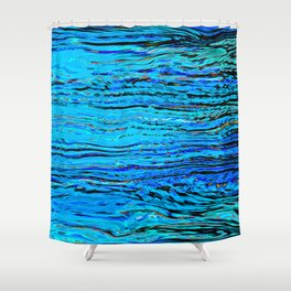 ripples on imagined water Shower Curtain
