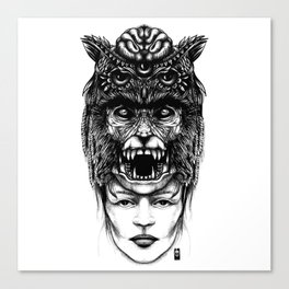 WolfGirl Second Canvas Print
