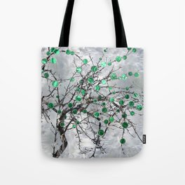 Abstract Gemstone and  Malachite Tree Tote Bag