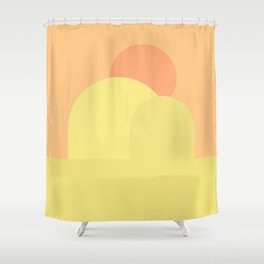 Sun in the haystack Shower Curtain