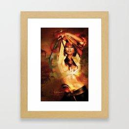 Daughter of Blackbeard the pirate  Framed Art Print
