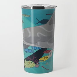 Aquarium (Shark Painting) Travel Mug