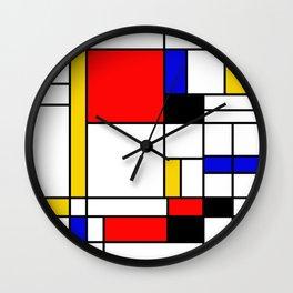 Bauhouse Composition Mondrian Style Wall Clock