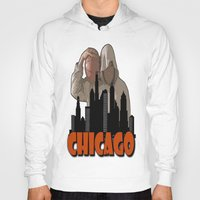 sports Hoodies featuring CHICAGO SPORTS  by Robleedesigns