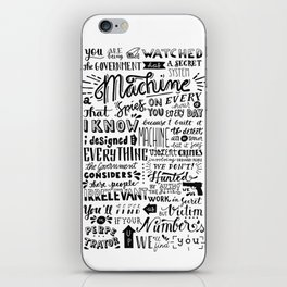 The Machine | Person of Interest iPhone Skin