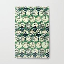 lotus diamond green Metal Print