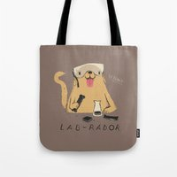 lab Tote Bags featuring lab-rador by Louis Roskosch