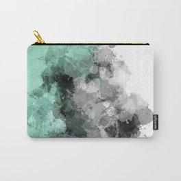 Mint Green Paint Splatter Abstract Carry-All Pouch