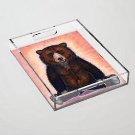 Blissed Out Bear Acrylic Tray