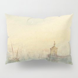 """J.M.W. Turner """"Venice: The New Moon – The Dogana from the steps of The Hotel Europa"""" Pillow Sham"""