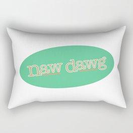 Naw Dawg Green Rectangular Pillow