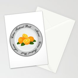 Citrus Festival Plate Stationery Cards