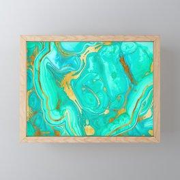 Geode 52 Gold Stone Slab Framed Mini Art Print