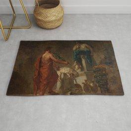 """Eugène Delacroix """"Lycurgus Consulting the Pythia"""" Rug"""