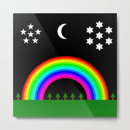 Midnight Rainbow Metal Print