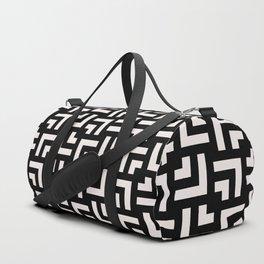 Bold geometric pattern - Stripe Tile Duffle Bag