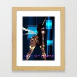 Dance Life Paradise - Black Goddess 1 Framed Art Print