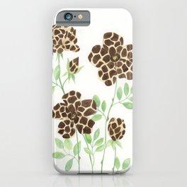 Wild Flowers - Giraffe iPhone Case