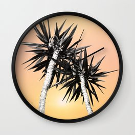 Cali Summer Vibes Palm Trees #2 #tropical #decor #art #society6 Wall Clock