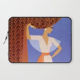 "Art Deco Illustration ""The Curtain"" Laptop Sleeve"