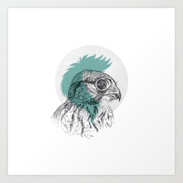 Just a little eagle Art Print