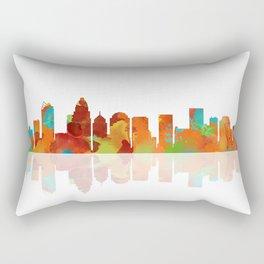 Skyline of Charlotte, North Carolina 1 Rectangular Pillow