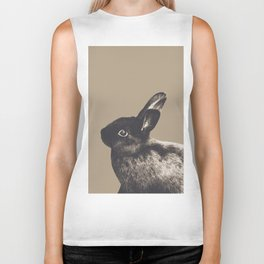 Little Rabbit on Sepia #1 #decor #art #society6 Biker Tank