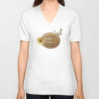 home sweet home V-neck T-shirts featuring Home Sweet Home by LLL Creations