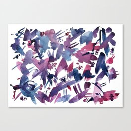 Abstract Blue and Magenta Pattern Canvas Print