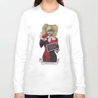 harley quinn Long Sleeve T-shirts featuring Harley quinn by Sara Meseguer