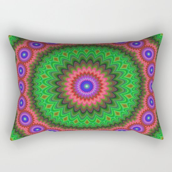 Mandala flower bouquet Rectangular Pillow