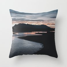 Sunrise in Iceland Throw Pillow