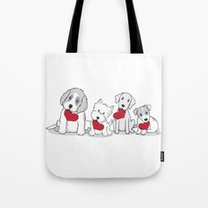 Valentine's Day Dogs Tote Bag