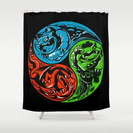 POKéMON STARTER: THREE ELEMENTS Shower Curtain