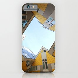 Yellow Square Houses iPhone Case