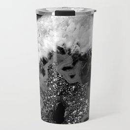 Gray Black White Agate Glitter Glamor #1 #gem #decor #art #society6 Travel Mug