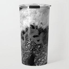 Gray Black White Agate Glitter Glamor #1 #gem #decor #art #society6 Travel Mug