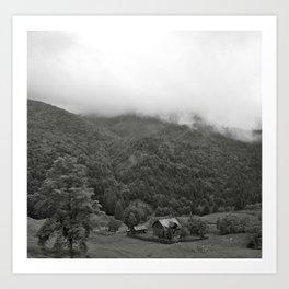 Farm in the Carpathian Mountains Art Print