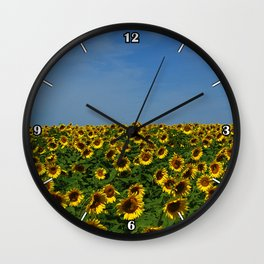 Sunflowers meet the sky 8819 Wall Clock