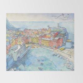 Vernazza, Cinque Terre, Italy Throw Blanket