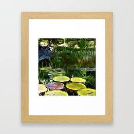 Greenery Pond Framed Art Print