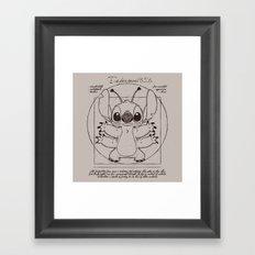 Stitch vitruvien Framed Art Print