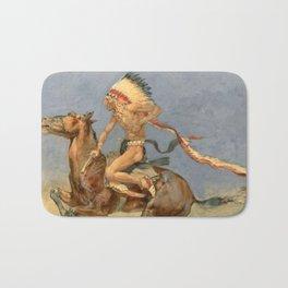 "Frederic Remington Western Art ""Pony War Dance"" Bath Mat"