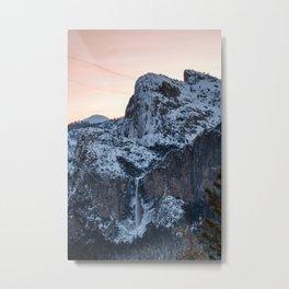 Yosemite Bridal Veil Falls Sunrise Metal Print