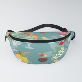 Blue Hawaii Cocktail Hour Fanny Pack