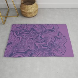 Two-toned purple Agate Rug