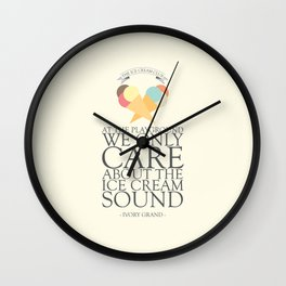 The Ice Cream Club Wall Clock