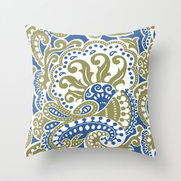 Bohemian Paisley Throw Pillow
