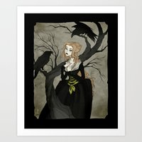 cinderella Art Prints featuring Cinderella by Abigail Larson